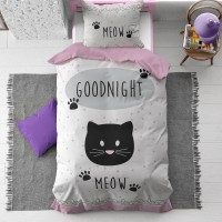Otroška bombažna posteljnina Goodnight Kitty