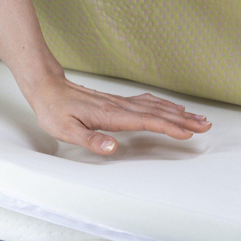 Nadvložek iz spominske pene ne omogoča vašemu ležišču le zaščite, ampak tudi dodatno udobje, uporabljate pa ga lahko tudi kot pomožno ležišče.