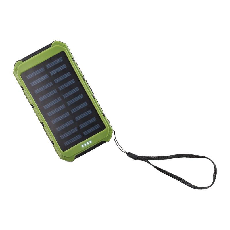 NES Solarni Power Bank mobilni polnilec ima vgrajeno litium-ionsko polimerno baterijo, solarne panele za rezervno polnjenje ter vgrajeno LED svetilko. Izdelek je kompatibilen z vsemi standardnimi pametnimi telefoni, tablicami, MP3 predvajalniki, digitalnimi fotoaparati, navigacijskimi napravami in drugimi PSP, iPhone in iPod napravami. Odvisno od tipa naprave zadošča za 2 do 5 polnjenj. Naprave polni preko USB tip-A izhoda z izhodno močjo 5V 1A (izhod 1) ali 5V 2A (izhod 2). Nazivna kapaciteta vgrajene baterije je 8000 mAh z življensko dobo do 300 polnjenj. Čas polnjenja izpraznjene baterije: od 10 do 20 ur. Polnjenje preko micro USB vmesnika na vseh 5 V 1A napravah (USB laptop reža, 220 V polnilci za telefon, tablice, ...). Priložen je 1 x USB mikro napajalni kabel.