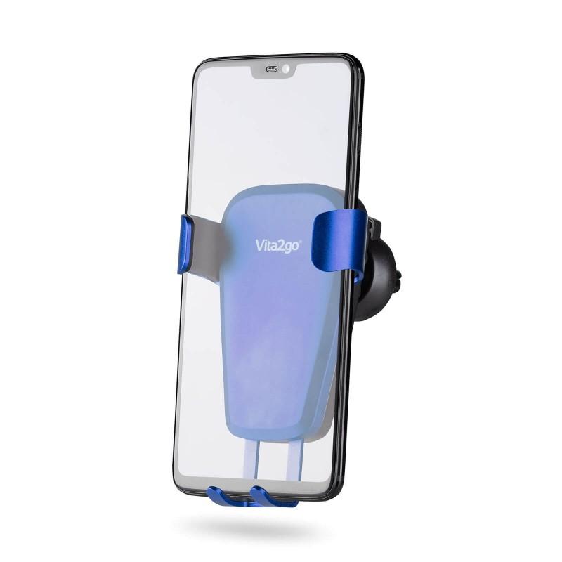 Univerzalno avtomobilsko držalo Gravity za mobilne telefone in druge naprave širine do 90 mm uporablja edinstven gravitacijski zaklep, ki čvrsto drži vaš telefon brez uporabe magnetov. Enostavno ga namestite na ventilacijsko režo, daljša prijemalka pa omogoča dovolj prostora med telefonom in režo in s tem poskrbi za neovirano prezračevanje. Držalo je mogoče zavrteti za 90 stopinj s čimer je omogočen horizontalen in vertikalen pogled na telefon. Vaši napravi nudi popolno stabilnost, tudi po razgibanem terenu, ob zaviranju in ležečih policajih.