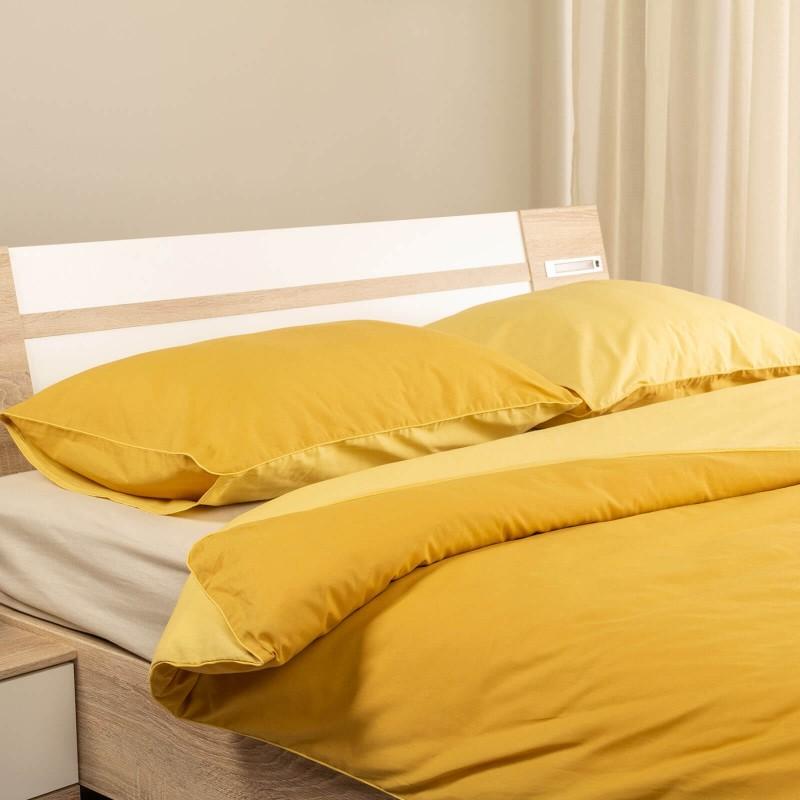Čas je za popolno razvajanje z moderno bombažno posteljnino! Posteljnina Sauternne je iz renforce platna, ki velja za lahko, mehko tkanino, preprosto za vzdrževanje. Možnost uporabe na obeh straneh. Posteljnina je pralna na 40 °C.
