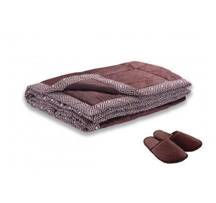 Dekorativna odeja Vitapur Family SoftTouch Home -  rjava