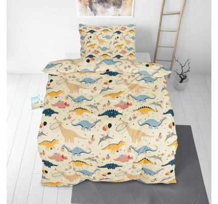 Otroška bombažna posteljnina Svilanit Dinosaurs