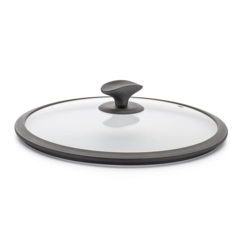 Poklopac Rosmarino Gold Stone je izrađen od kvalitetnog i čvrstog stakla. S otvorom koji ispušta paru i sprečava ključanje iz posude. S ergonomski dizajniranom ručkom SoftTouch za jednostavnije držanje te praktičnim utorom za kuhaču ili ostale kuhinjske dodatke. Kompaktni silikonski rub za bolje prianjanje posuđu i sprečavanje klizanja poklopca sa posude. Univerzalni poklopac pristaje svim posudama i periv je u perilici posuđa.