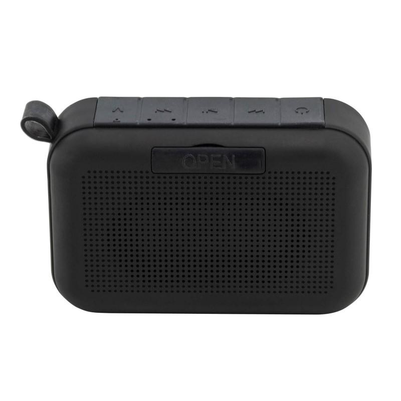 Prijenosni Bluetooth zvučnik Blacksmith's jamči savršeni bežični zvuk i slušanje glazbe bilo kad i bilo gdje. Povezivanje preko audio priključnog kabla ili USB-mikro kabla ili pomoću MicroSD kartice. Zvučnik je kompatibilan sa svim napravama sa Bluetooth tehnologijom. Malen i lagan te savršen za uživanje u glazbi gdjegod se nalazili.