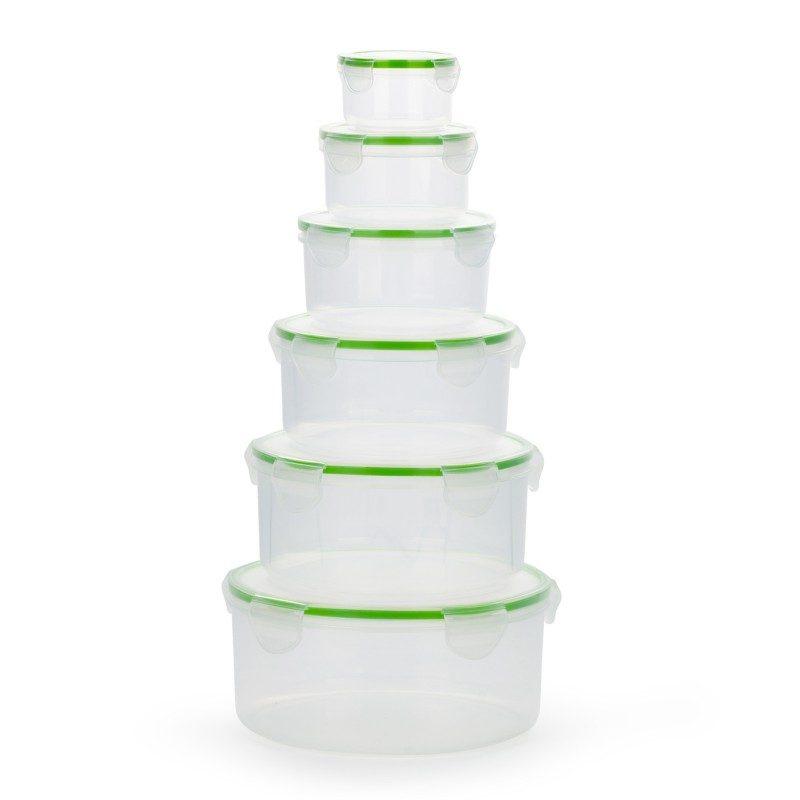 U plastičnim posudicama Rosmarino ćete na jednostavan način očuvati različite namirnice. Set se sastoji od 6 okruglih posuda i 6 pripadajućih poklopaca.