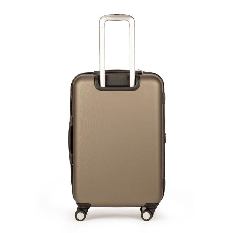 Kofer od čvrstog materijala za bezbrižnu putovanje. S kotačićima od 360 ° i teleskopskom ručkom na izvlačenje. Veličina kofera 66 x 42 x 26 cm; 65 l.