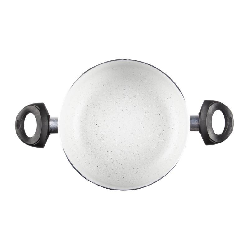 Eco Cook lonac promjera 24 cm s neprianjajućim glatkim mineralnim premazom omogućuje prirodan način kuhanja s malo masnoće. Hrana zadržava sve vitamine i minerale koji su potrebni za zdravi život. Primjeren je za sve površine za kuhanje, uključujući indukciju, lako se pere. Možete ga prati i u perilici posuđa. Svo posuđe Eco Cook je bazirano na višeslojnom sastavu, čime se osigurava dug životni vijek i visok stupanj otpornosti i trajnosti.