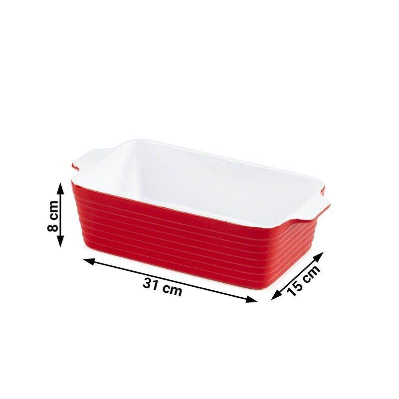 Keramički pekač Rosmarino, izrađen od visokokvalitetne keramike, pečene na 1200 ° C, izuzetno je izdržljiv, fine strukture i otporan na razne kemijske utjecaje. Sa modernim izgledom u crvenoj boji, vaš je novi nezamjenjivi dodatak za pečenje. Pekač je zbog svog izdržljivog keramičkog sastava otporan i na visoke temperature do 260 ° C, a primjeren je i za mikrovalnu pećnicu. Također je primjeren za čuvanje u hladnjaku ili zamrzivaču. Idealno za pečenje mesa, ribe, povrća, lazanja i peciva.