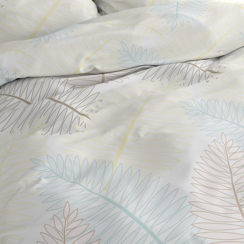 Vrijeme je za potpuno uživanje u modernim pamučnim posteljinama! Posteljina Fern od renforce platna, mekane tkanine, jednostavne za održavanje.  Posteljina je čudesan je ukras vaše spavaće sobe, a u isto vrijeme odličan izbor za udoban i ugodan san. Posteljina je periva na 40 °C.
