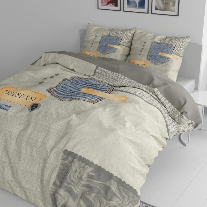Vrijeme je za potpuno uživanje u modernim pamučnim posteljinama! Posteljina Jeans Pocket od renforce platna, mekane tkanine, jednostavne za održavanje. Posteljina je čudesan je ukras vaše spavaće sobe, a u isto vrijeme odličan izbor za udoban i ugodan san. Posteljina je periva na 40 °C.