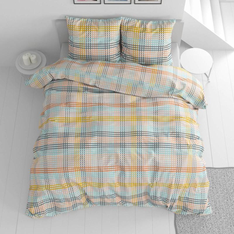 Vrijeme je za potpuno uživanje u modernim pamučnim posteljinama! Posteljina Check od renforce platna, mekane tkanine, jednostavne za održavanje. Posteljina je čudesan je ukras vaše spavaće sobe, a u isto vrijeme odličan izbor za udoban i ugodan san. Posteljina je periva na 40 °C.