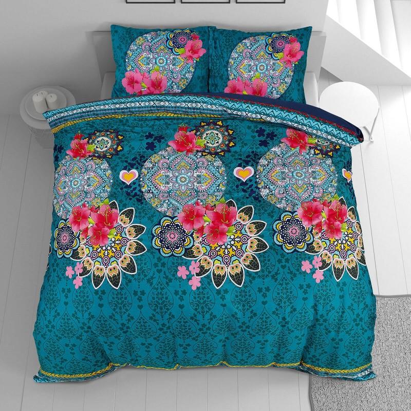 Vrijeme je za potpuno uživanje u modernim pamučnim posteljinama! Posteljina Aisha od mekanog pamučnog satena, koji je satkan od visokokvalitetnog, tankog tkanja. Posteljina od satena je prekrasan ukras vaše spavaće sobe, a u isto vrijeme odličan izbor za udoban i ugodan san. Posteljina je periva na 40 °C.