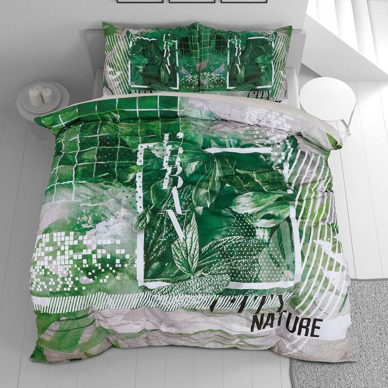 Vrijeme je za potpuno uživanje u modernim pamučnim posteljinama! Posteljina Urban Nature od renforce platna, mekane tkanine, jednostavne za održavanje. Neka vas oduševi moderan dizajn s uzorkom prirode za udoban i ugodan san. Posteljina je periva na 40 °C.