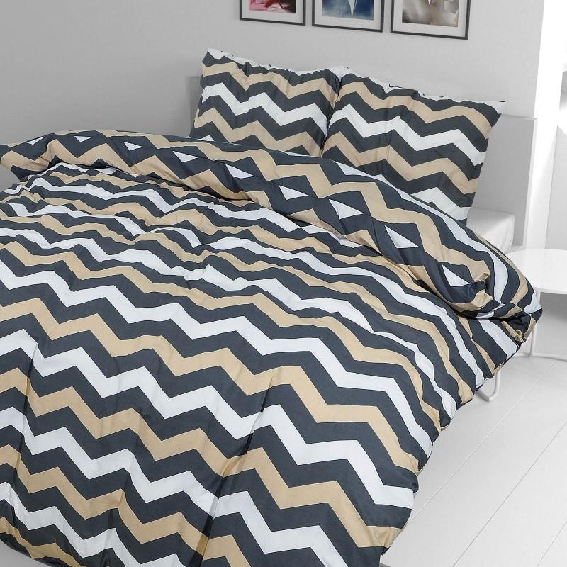 Vrijeme je za potpuno uživanje u modernim pamučnim posteljinama! Posteljina Sophia od renforce platna, mekane tkanine, jednostavne za održavanje. Neka vas oduševi moderan dizajn s prugicama za udoban i ugodan san. Posteljina je periva na 40 °C.