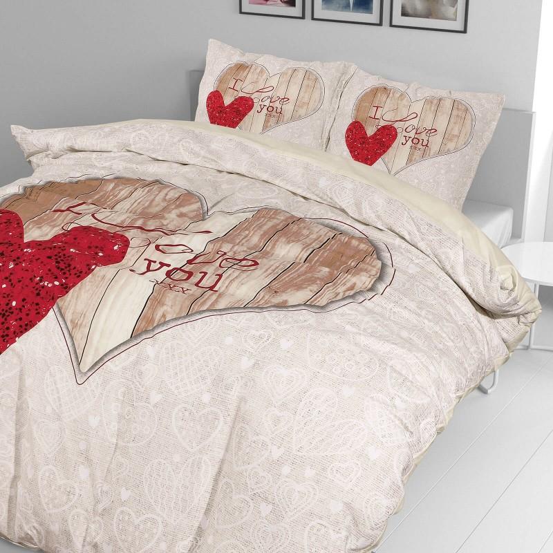 Vrijeme je za potpuno uživanje u modernim pamučnim posteljinama! Posteljina I love U od renforce platna, mekane tkanine, jednostavne za održavanje. Neka vas oduševi moderan dizajn za udoban i ugodan san. Posteljina je periva na 40 °C.