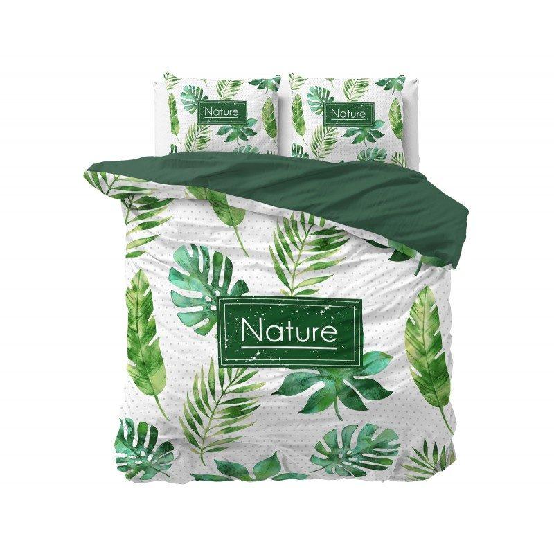 Kvalitetna pamučna posteljina Jungle jednostavnog dizajna, koji će u vašu sobu unijeti dašak prirode. U zelenoj boji. Dostupna u dimenzijama 140 x 200/50 x 70 cm i 200 x 200/2 x 50 x 70 cm.