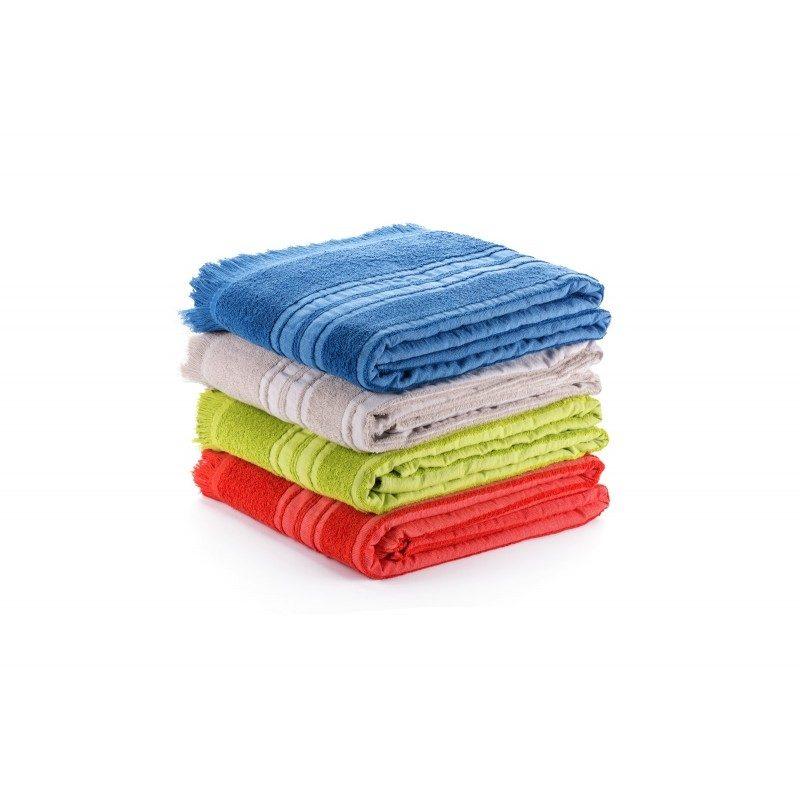 Višenamjenski pokrivač Vitapur Family Santorini dimenzije 135 x 200 cm. Za izležavanje na plaži, pikniku, kauču ili kao pokrivač za tople noći. 100 % pamuk.