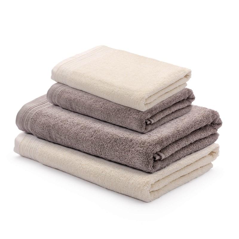 Osjetite raskošnu udobnost u kupaonici! Set kvalitetnih ručnika Prima od pamučnog frotira je izdržljiv, mekan, upijajući i brzo se suši. Klasični jednobojni ručnici u dvije dimenzije: 50x100 cm i 70x140 cm. Ručnici su perivi na 60 °C.