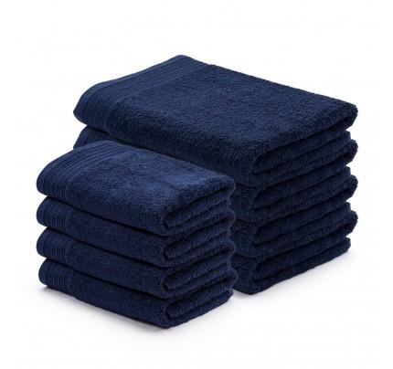 8-dijelni set ručnika Svilanit Prima - tamno plavi