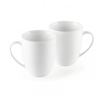 Set 2 porculanske šalice Rosmarino Cucina Deko - 325 ml