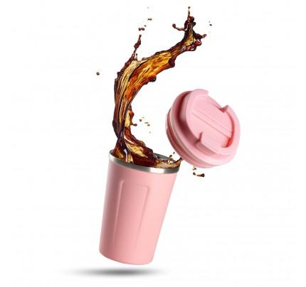 Termo lončić za kavu ili čaj Rosmarino 350 ml - rozi