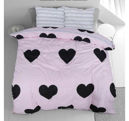 Pamučna posteljina Svilanit Rose Hearts