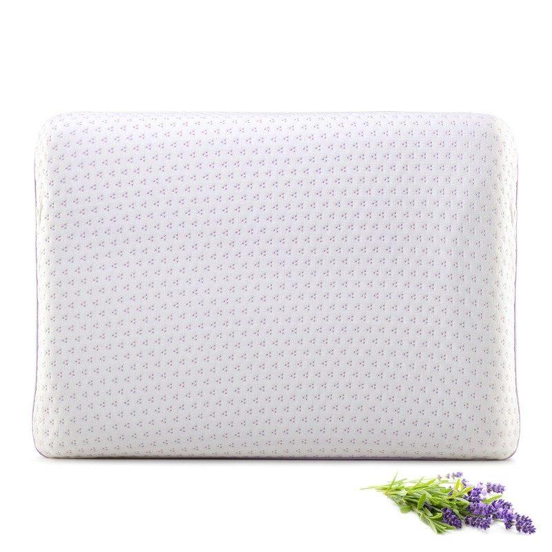 Klasični jastuk od pene Lavanda Memory, sigurno će vas uveriti u svestranost, jer je pogodan za sve položaje spavanja. Memorijska pena kombinuje prednosti i karakteristike klasičnih jastuka i jastuka od lateksa. Savršeno se prilagođava obliku i pritisku tela, savršeno podupire vrat i kičmu i opušta telo tokom spavanja. Navlaka se skida i pere na 40 °C.