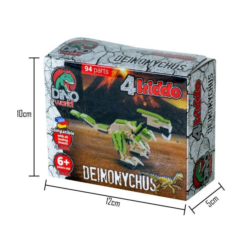 Napravite svog dinosaurusa sa Kiddo kockama! Za kreativnost i korisno slobodno vreme. Dinosaurus Deinonychus.