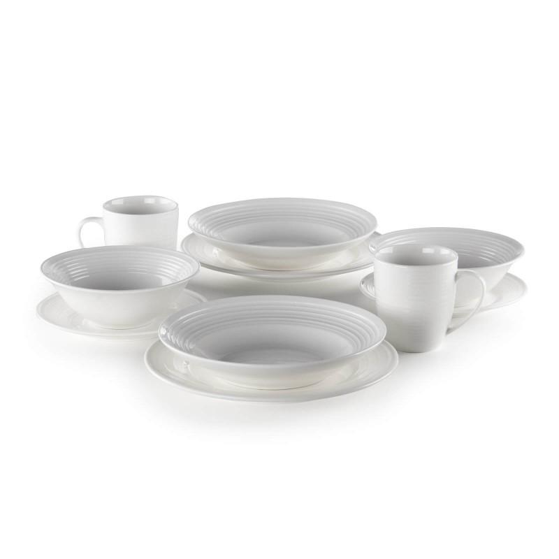 Linija porcelana Rosmarino Cucina Deko će Vas impresionirati svojim prefinjenim dizajnom i snežnom belinom za bezgraničnu eleganciju. Uživajte u omiljenim obrocima! Posuda za salatu je izrađena od visokokvalitetnog i izdržljivog porcelana. Njena veličina čini ga idealnim za posluživanje glavnih jela. Glatki i sjajni porcelan će vašem stolu dati klasičnu lepotu i dodatnu vrednost i zasigurno će oduševiti i ukućane i goste. Porcelan nije pogodan samo za kućnu upotrebu, već se svojim prefinjenim izgledom odlično uklapa i u profesionalnim kuhinjama.