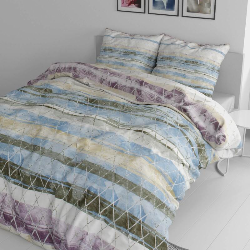 Vreme je za potpuno uživanje u modernim pamučnim posteljinama! Posteljina Aquarelle napravljena je od renforce platna, koje se smatra mekanom tkaninom i lakom za održavanje. Očaraće vas modernim dizajnom sa prolećnim bojama. Posteljina je periva na 40 °C.