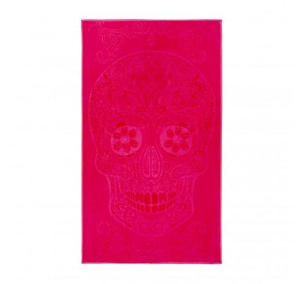 Peškir za plažu Svilanit Onix Skull - roze