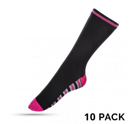 10 pari ženskih čarapa Marshal - pink-crte - 39-42