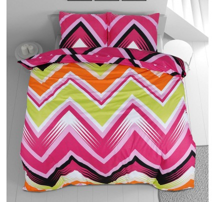 Pamučna posteljina Svilanit Zig Zag Colors