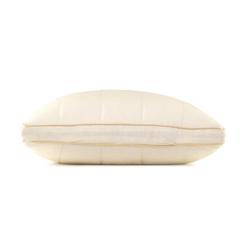 Klasični jastuka sa bambusovim vlaknima All Sides Sleep će vas uvjeriti u svestranost, jer je pogodan za sve položaje spavanja. Vaša koža će biti u kontaktu sa 100% nebijeljenim pamukom i bambusovim vlaknima što garantuje svježinu i higijensko okruženje za spavanje.