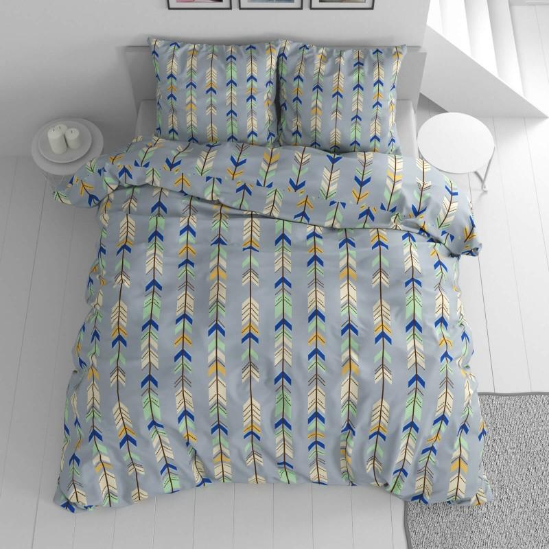 Vrijeme je za potpuno uživanje u modernim pamučnim posteljinama! Posteljina Arrows od renforce platna, mekane tkanine, jednostavne za održavanje. Posteljina je čudesan ukras vaše spavaće sobe, a u isto vrijeme odličan izbor za udoban i ugodan san. Posteljina je periva na 40 °C.