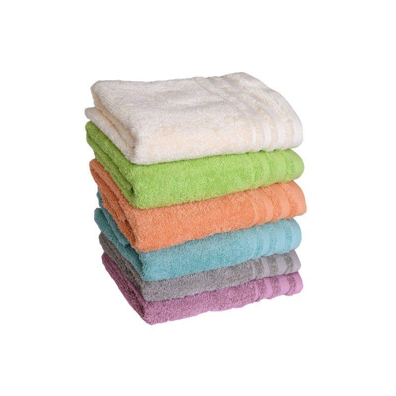 Doživite raskošnu udobnost u svojoj kupaonici! Kvalitetni peškir Eva od pamučnog frotira je izdržljiv, mekan, odlične apsorpcije i brzo se suši. Klasični jednobojni peškir sa jednostavnom bordurom. Peškir je periv na 60 °C.