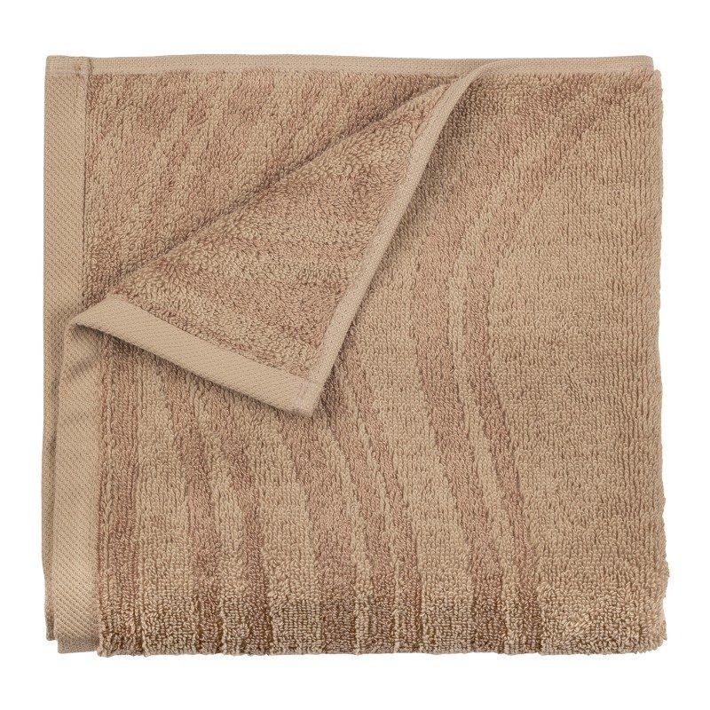 Peškiri su izrađeni od visoko upijajućeg pamuka i bambusovih vlakana. Bambus vlakna imaju još veću moć upijanja i stoga se brže suše. Tkanina u reljefnoj strukturi. Dimenzije: 50x100 cm i 70x140 cm. Sivo-braon boja.