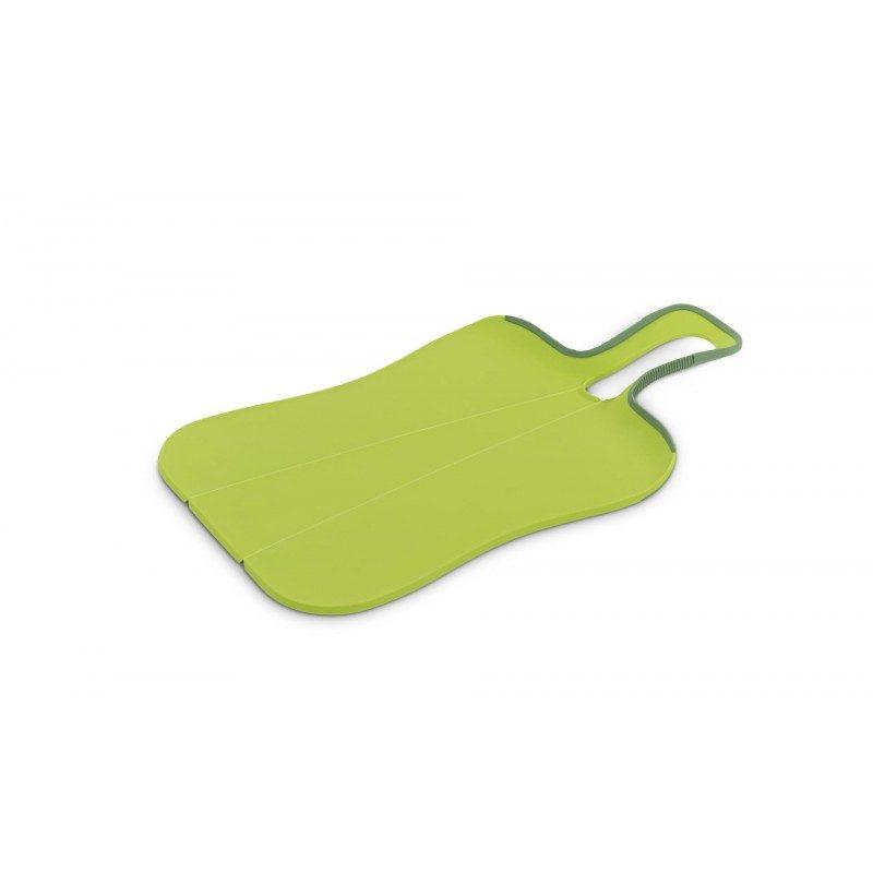 Kuhinjska daska za sječenje, koja je mnogo više od toga. Stiskanjem ručke se složi u oblik slova U, pa ćete na taj način jednostavno dodati isjeckane namirnice u posudu za pripremu. Dimenzije: 39,5 x 23,5 x 3,2 cm.