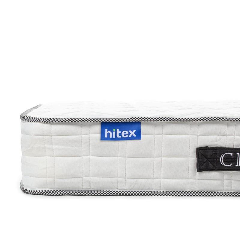 Dušek s oprugama Hitex City Wave 20 visok je 20 cm i pruža potpunu podršku i udobnost vašem tijelu, osigurava da se probudite odmorni i naspavani.   Sistem jednostrukih opruga u kombinaciji s dodatnim slojem filca u jezgru, sa tri sloja pjene Sensa Memory i dodatnim slojem od 2 cm u navlaci, osiguravaju pravilan položaj tokom spavanja i opuštanje.