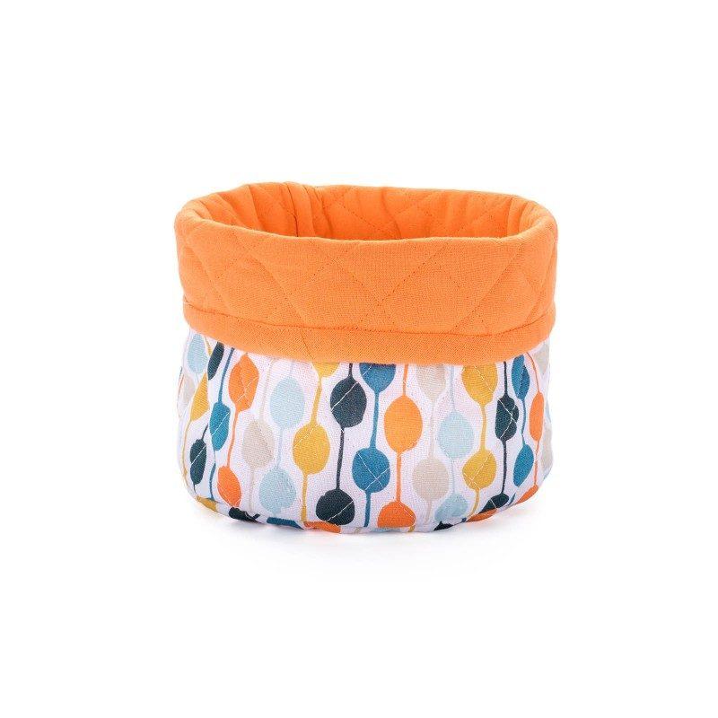 Dotty korpa je izrađena od 100% pamuka i može se koristiti za hljeb i druge pekarske proizvode. Sa veselim tačkastim motivom. Dimenzije 21 x 27 cm. Narandžasta boja.