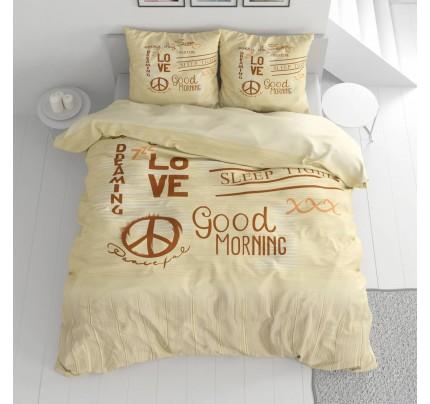 Lenjerie de pat din bumbac Svilanit Love&Peace