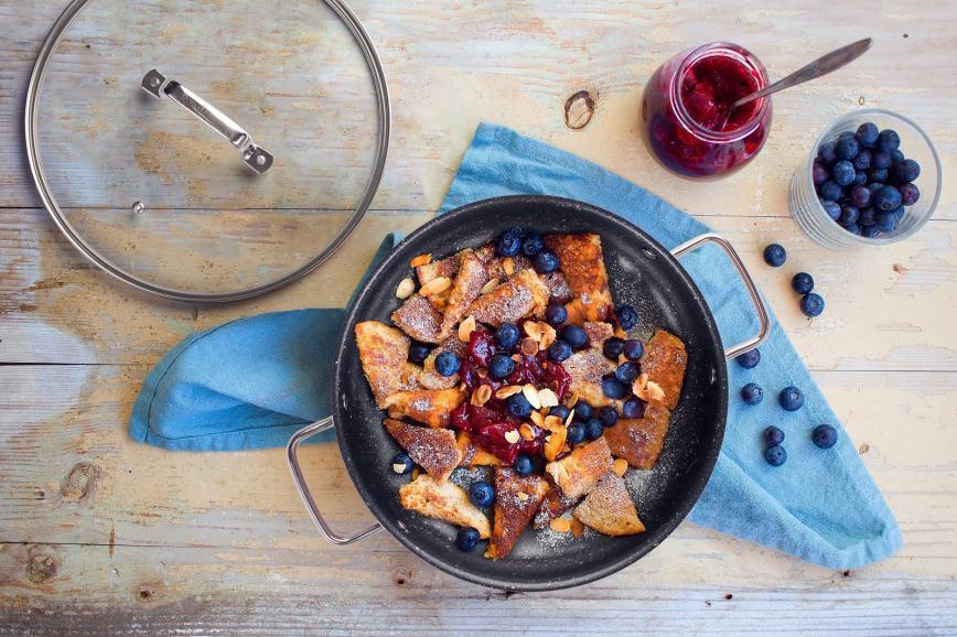 Recept za šmoren z mandlji in borovnicami