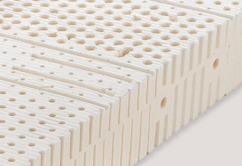 Jedro iz lateksa za pravilno lego hrbtenice in maksimalno udobje